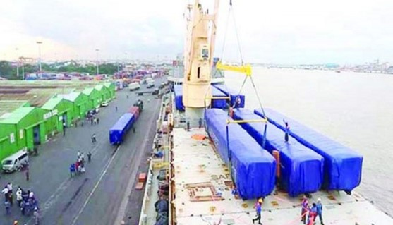 Rail-coaches of 6th stage arrived from Indonesia