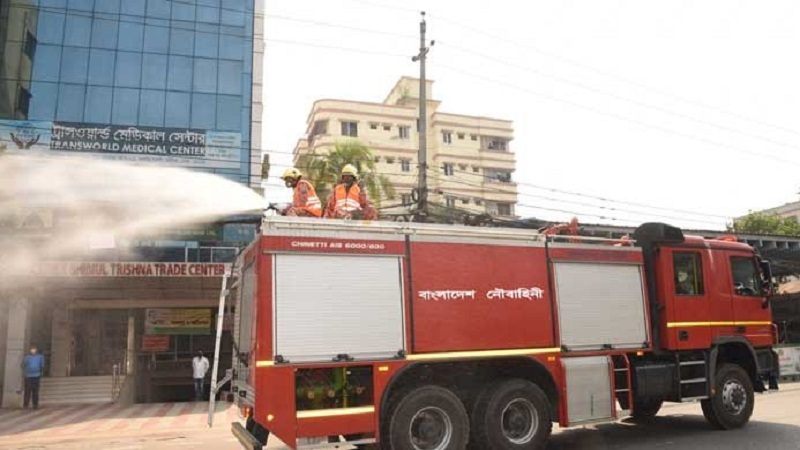 Navy sprayed disinfectant spray into town