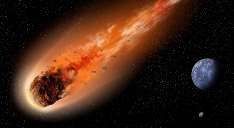 A huge asteroid 52768 is rushing towards the Earth's orbit