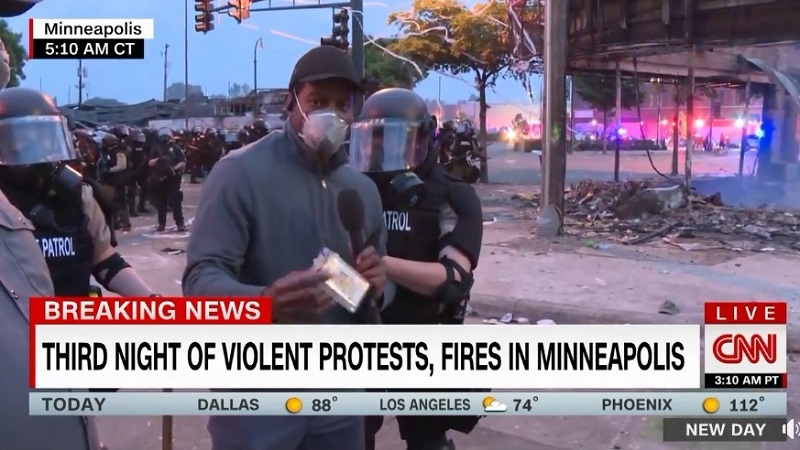 CNN's Broadcast Team Arrested While Live in Minneapolis, USA