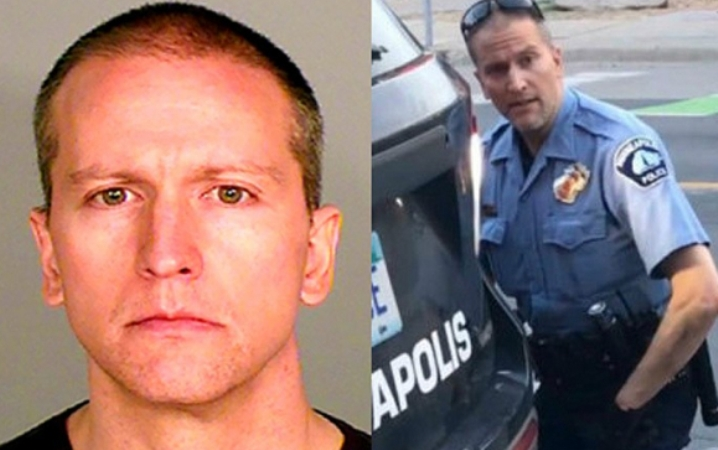 Four police officers have been charged with killing a black man in the United States
