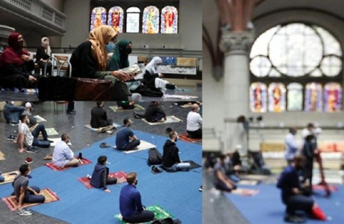 Eid prayers for Muslims inside a church in Germany