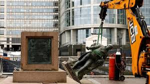 The sculpture of British slave trader Robert Milligan has been taken down