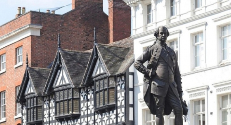 The British demanded the removal of the statue of Robert Clive
