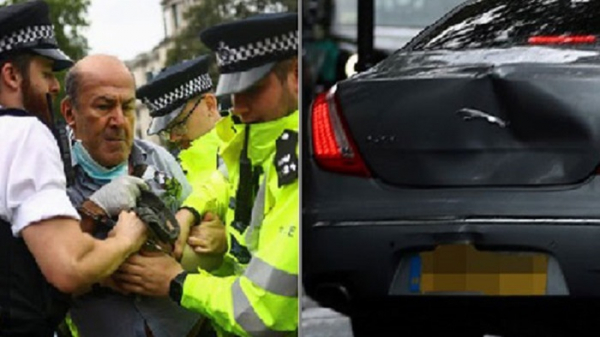 The car of British Prime Minister Boris was involved in the accident