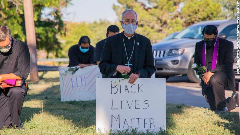 A bishop in El Paso kneeled in prayer for George Floyd